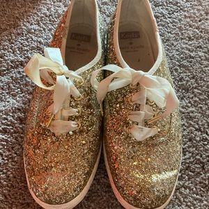 Kate Spade glitter flats!